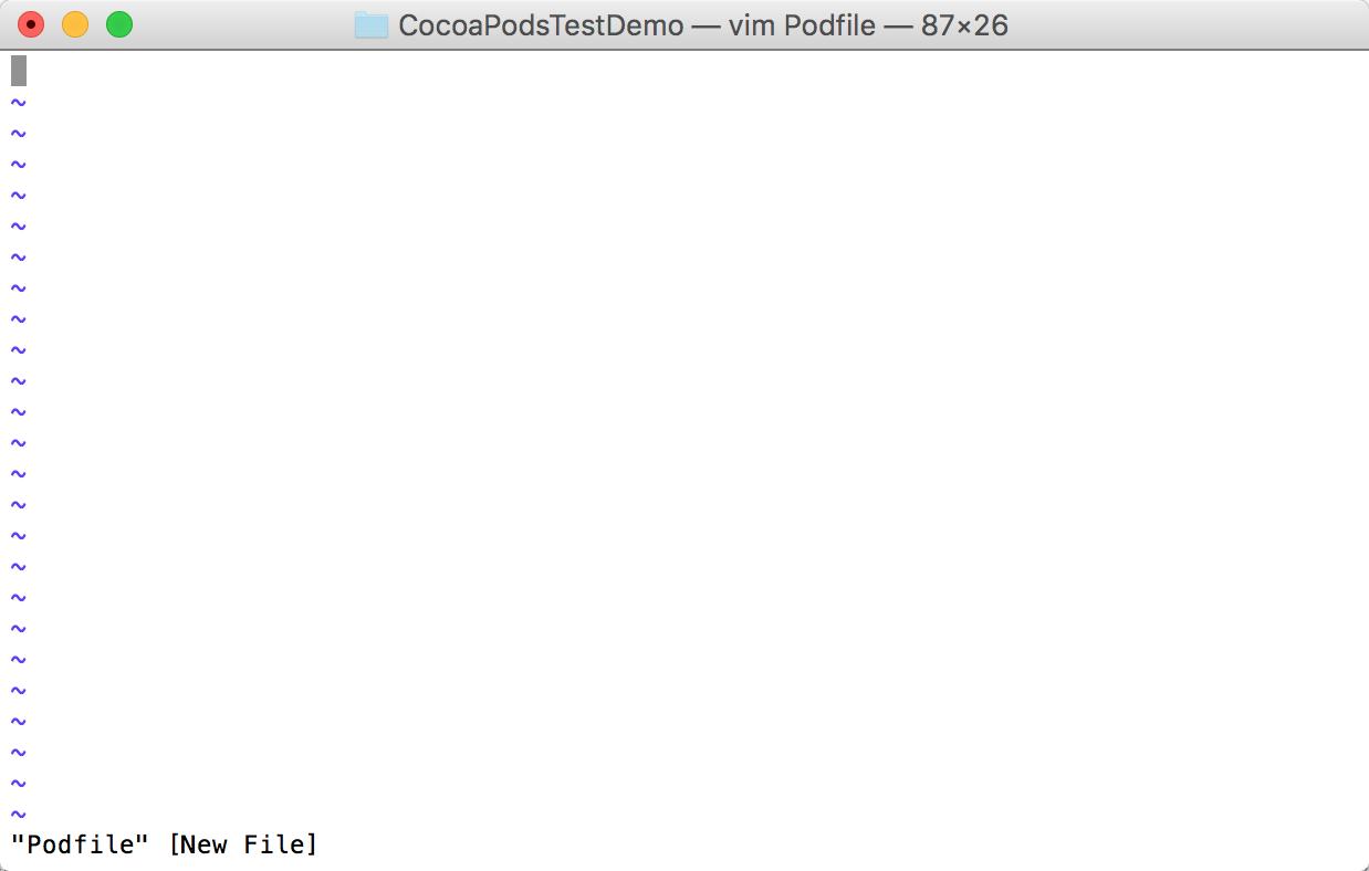 指令 vim Podfile 后跳转界面 .png