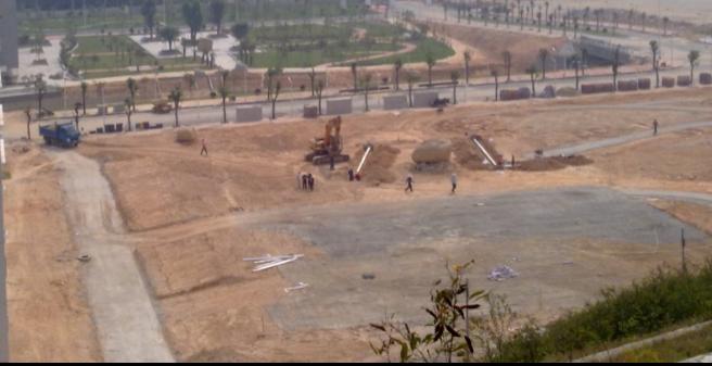 建设中的校区