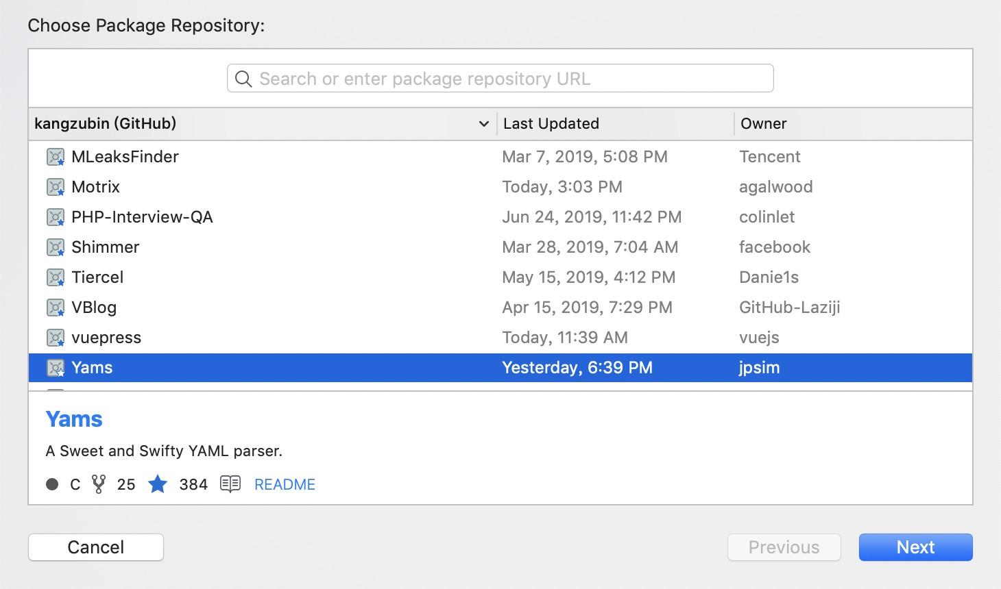 在Xcode 中使用Swift Package - 小专栏