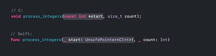 这里有C语言接口映射的例子