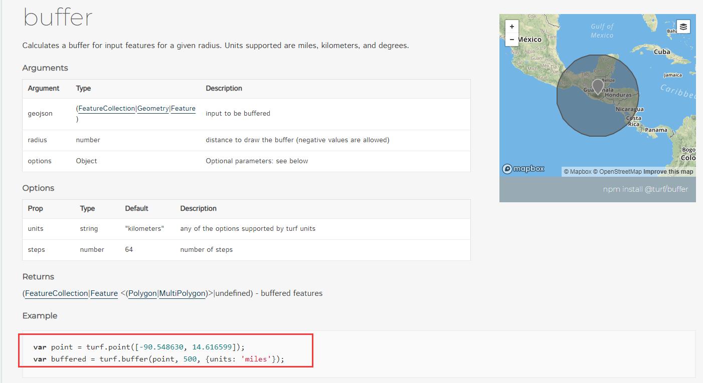 leaflet结合turf.js实现绘制图形缓冲分析buffer(附源码下载)