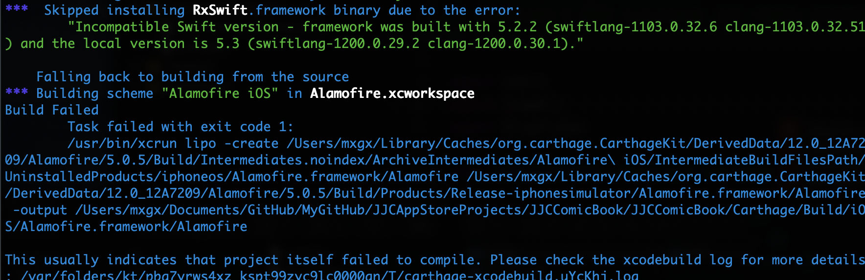 【iOS】升级 Xcode12 引起的 Carthage 配置变更问题