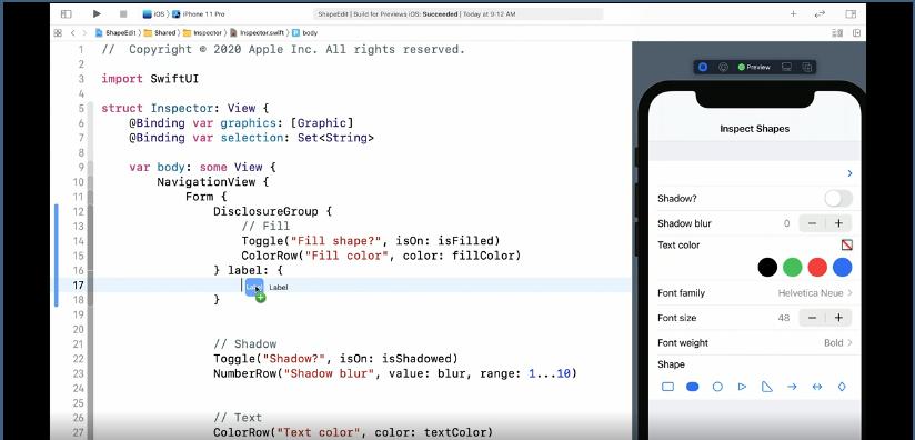 WWDC20 10031 - SwiftUI 中的堆栈,网格和轮廓