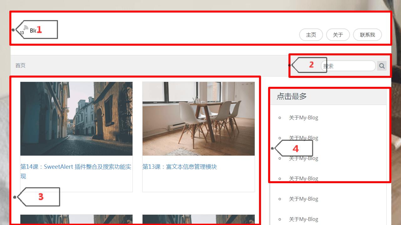 26.博客系统项目开发之分页功能及侧边栏功能