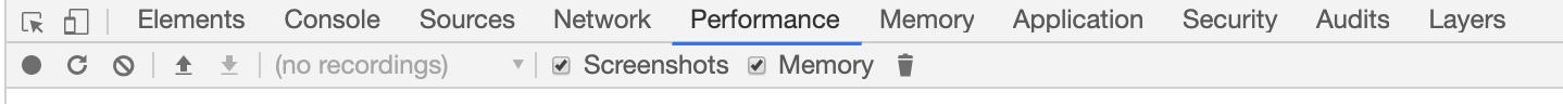 八、性能分析面板 Performance