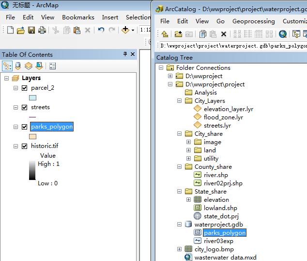 011 一个空间分析项目03:数据处理之数字化和合并分幅数据