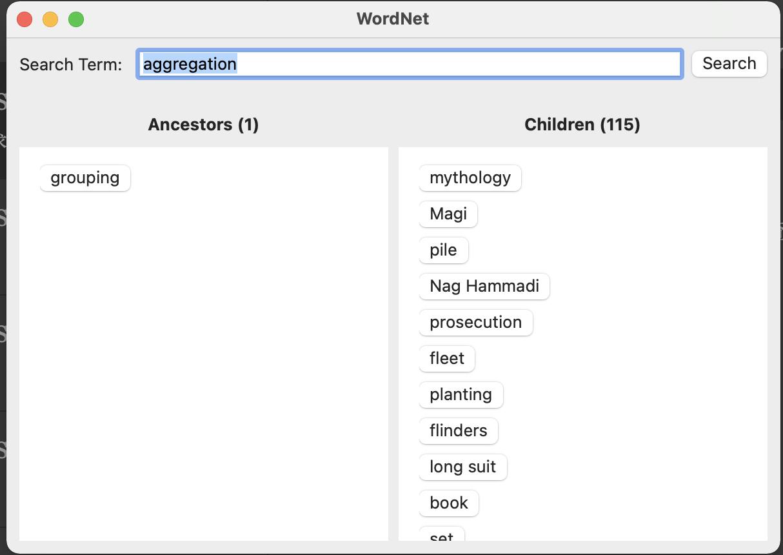 macOS SwiftUI 知识图谱之WordNet解析与查询全功能语料库