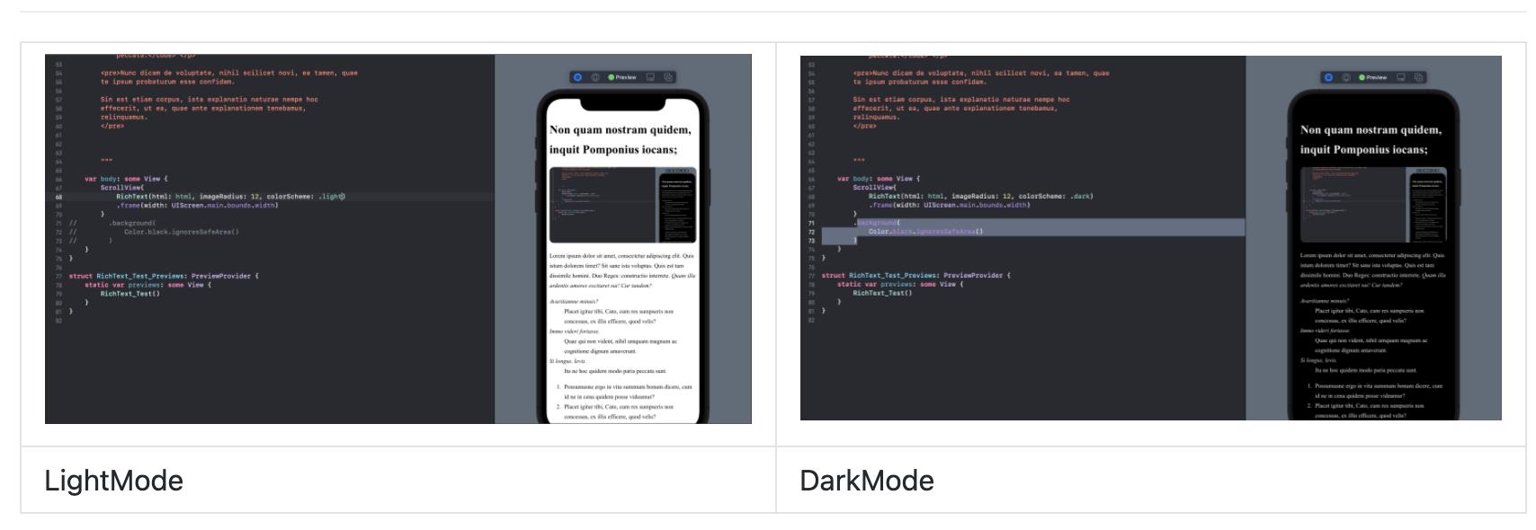 SwiftUI 富文本组件之支持显示HTML各类标签RichText