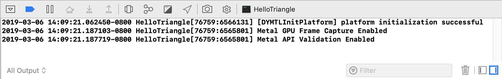 使用Metal调试器查看GPU工作负载