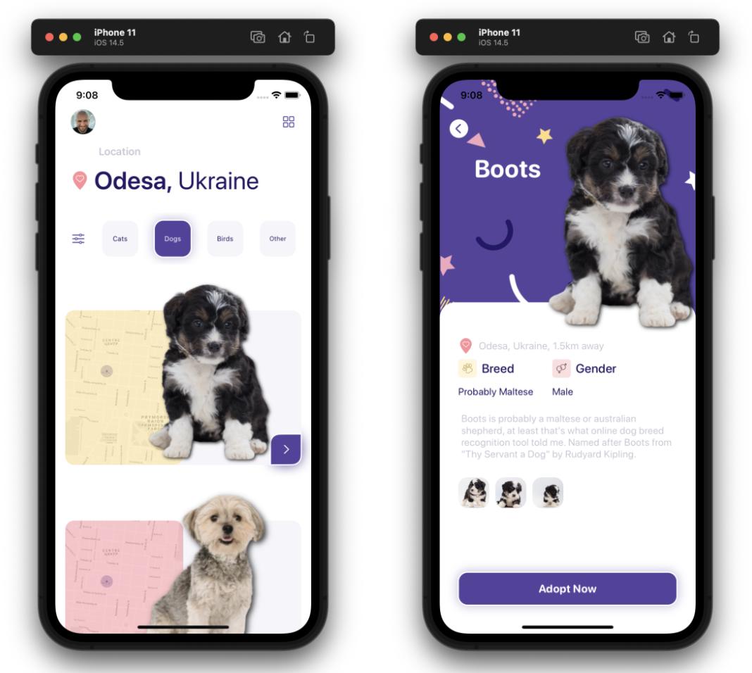 SwiftUI 界面大全之宠物领养管理App